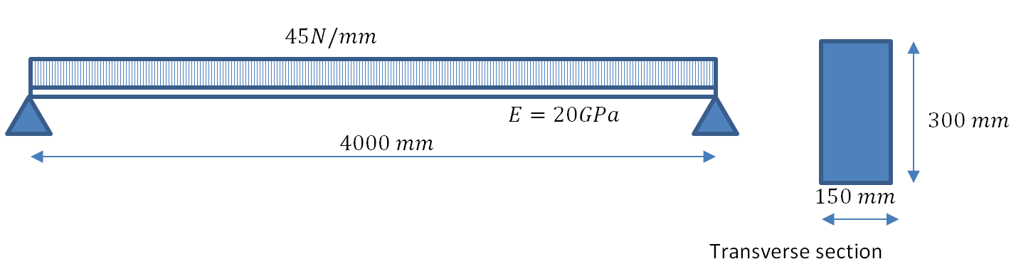 Figure 1. Geometry and loading.